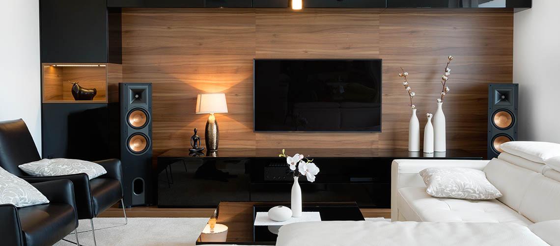 Ideer til indretning af tv-væggen